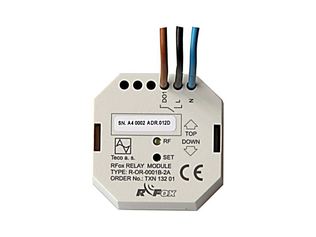 R-OR-0001B; RFox, 1x relay output/ 2A, NO, BOX, 230 V AC